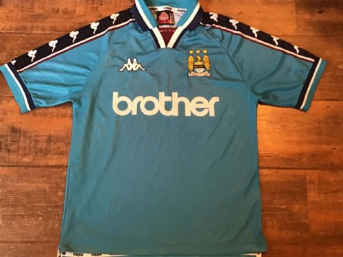 1997 1999 Manchester City Home Football Shirt Small